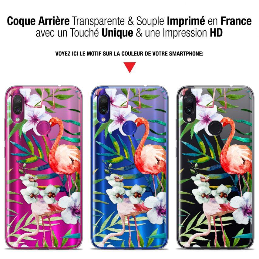 """Coque Gel Xiaomi Redmi Note 7 (6.3"""") Extra Fine Watercolor - Tropical Flamingo"""