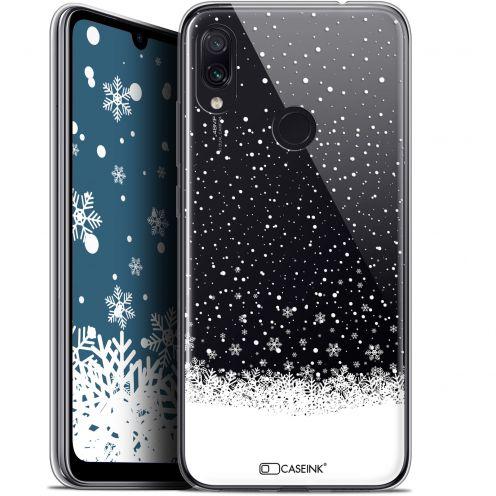 "Coque Gel Xiaomi Redmi Note 7 (6.3"") Extra Fine Noël 2017 - Flocons de Neige"