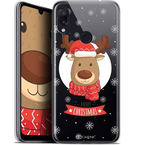 """Coque Gel Xiaomi Redmi Note 7 (6.3"""") Extra Fine Noël 2017 - Cerf à Echarpe"""