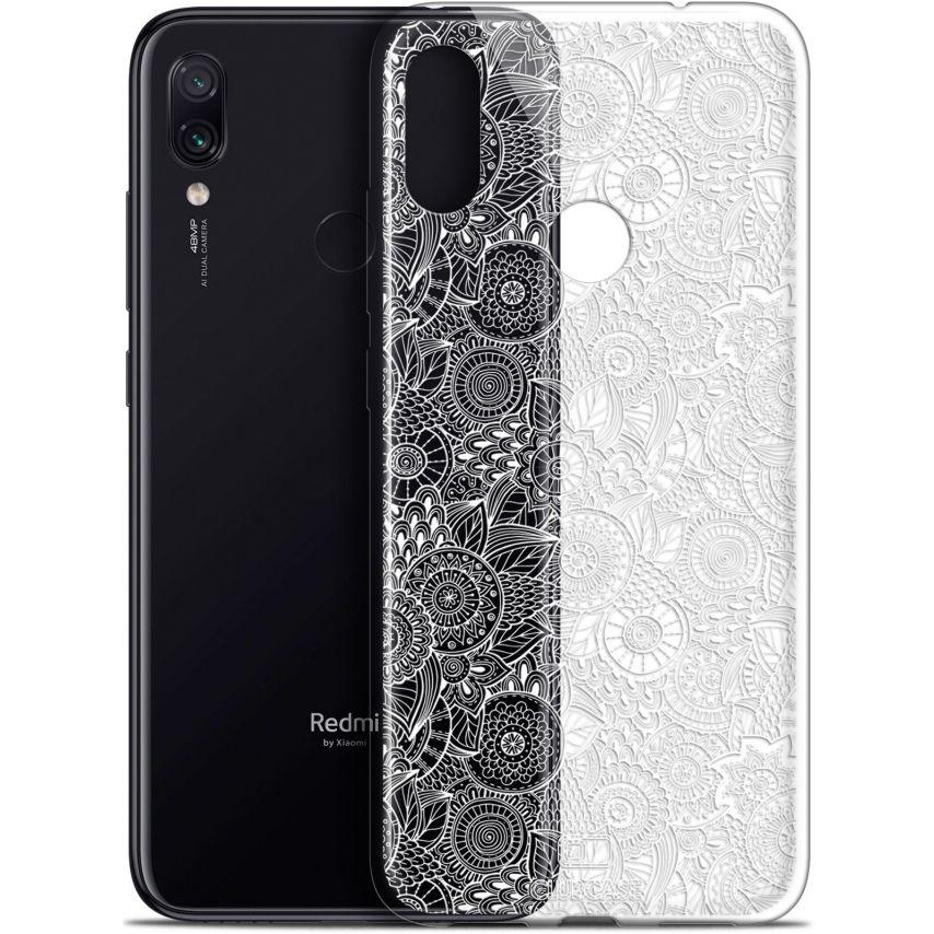 "Coque Gel Xiaomi Redmi Note 7 (6.3"") Extra Fine Dentelle Florale - Blanc"