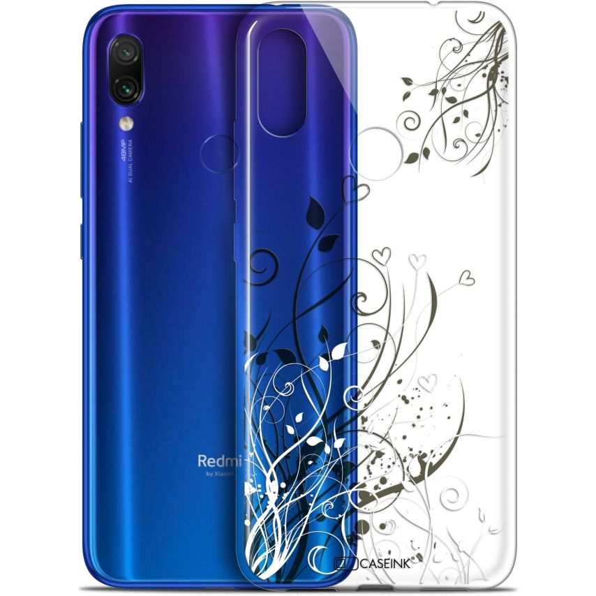 "Coque Gel Xiaomi Redmi Note 7 (6.3"") Extra Fine Love - Hearts Flowers"