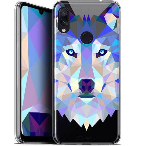 "Coque Gel Xiaomi Redmi Note 7 (6.3"") Extra Fine Polygon Animals - Loup"