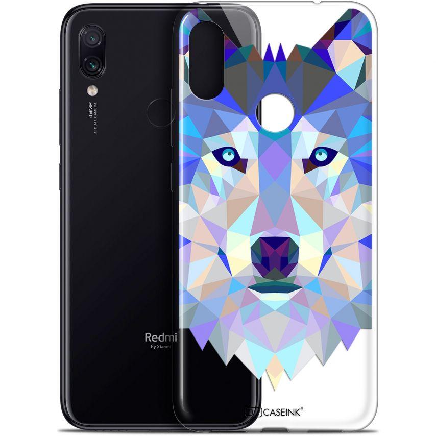 "Coque Gel Xiaomi Redmi Note 7 (6.3"") Extra Fine Polygon Animals - Loup"
