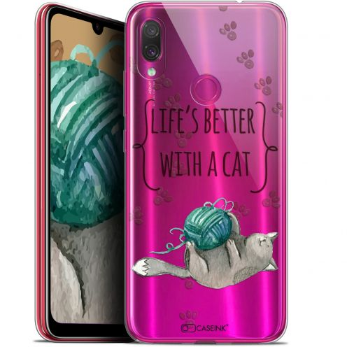"""Coque Gel Xiaomi Redmi Note 7 (6.3"""") Extra Fine Quote - Life's Better With a Cat"""