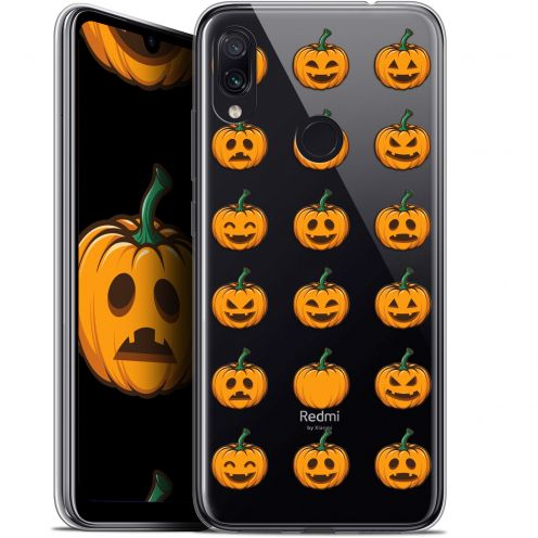 "Coque Gel Xiaomi Redmi Note 7 (6.3"") Extra Fine Halloween - Smiley Citrouille"
