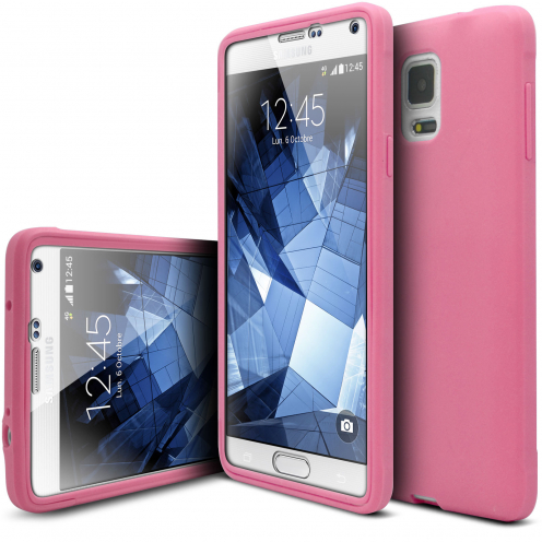 Coque Samsung Galaxy Note 4 Antichoc 360 Ultimate Touch Gel Rose