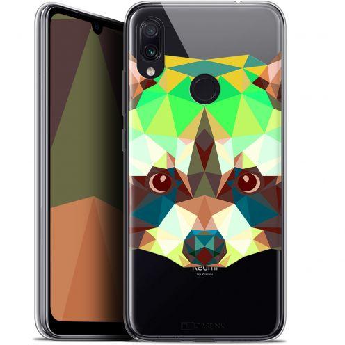 """Coque Gel Xiaomi Redmi Note 7 (6.3"""") Extra Fine Polygon Animals - Raton Laveur"""