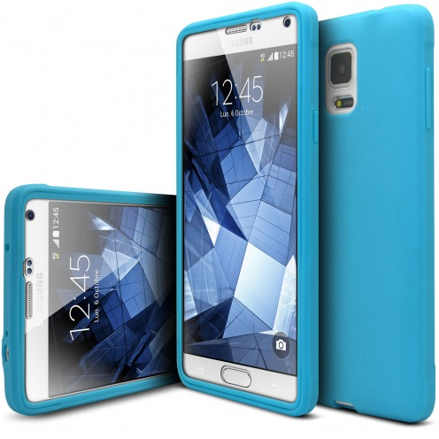 Coque Samsung Galaxy Note 4 Antichoc 360 Ultimate Touch Gel Bleu
