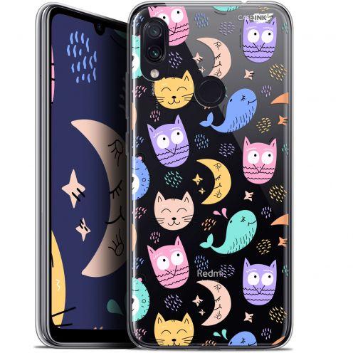 """Coque Gel Xiaomi Redmi Note 7 (6.3"""") Extra Fine Motif -  Chat Hibou"""
