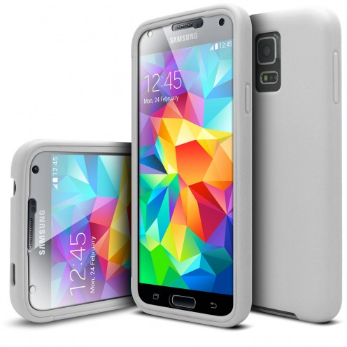 Coque Samsung Galaxy S5 Antichoc 360 Ultimate Touch Gel Blanc