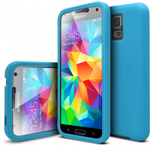 Coque Samsung Galaxy S5 Antichoc 360 Ultimate Touch Gel Bleu