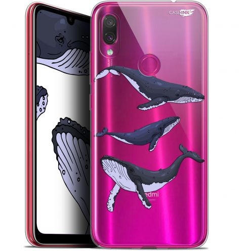 """Coque Gel Xiaomi Redmi Note 7 (6.3"""") Extra Fine Motif -  Les 3 Baleines"""