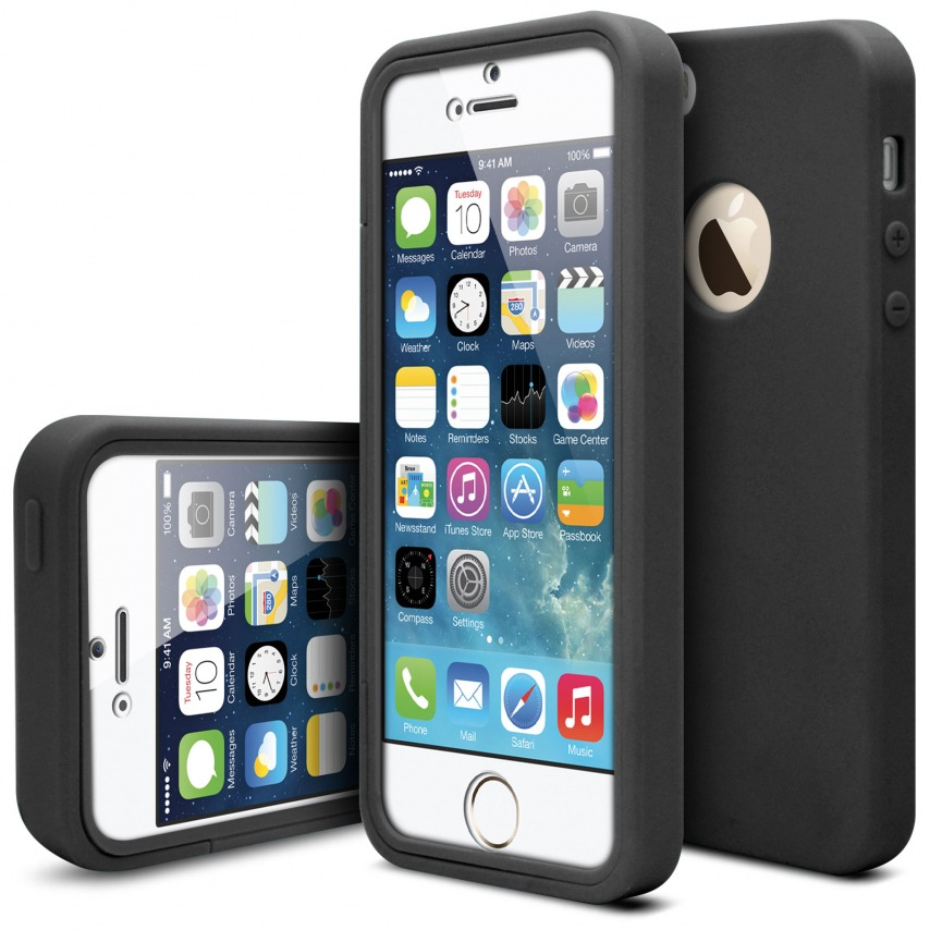 coque antichoc 360 ultimate touch gel apple iphone 5 5s se noir. Black Bedroom Furniture Sets. Home Design Ideas