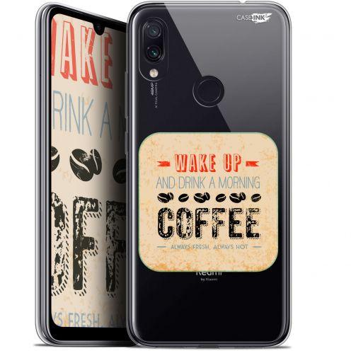"Coque Gel Xiaomi Redmi Note 7 (6.3"") Extra Fine Motif -  Wake Up With Coffee"