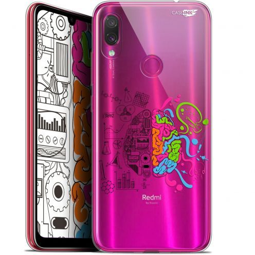 "Coque Gel Xiaomi Redmi Note 7 (6.3"") Extra Fine Motif - Le Cerveau"