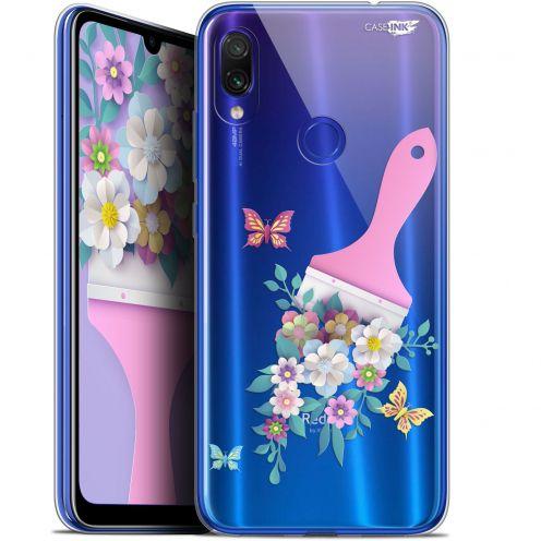 """Coque Gel Xiaomi Redmi Note 7 (6.3"""") Extra Fine Motif -  Pinceau à Fleurs"""
