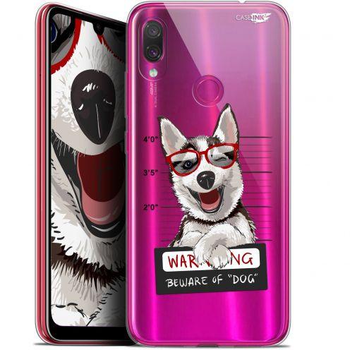 "Coque Gel Xiaomi Redmi Note 7 (6.3"") Extra Fine Motif -  Beware The Husky Dog"