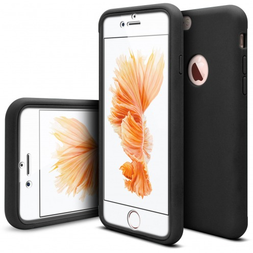 Coque Apple iPhone 6/6s Antichoc 360 Ultimate Touch Gel Noir