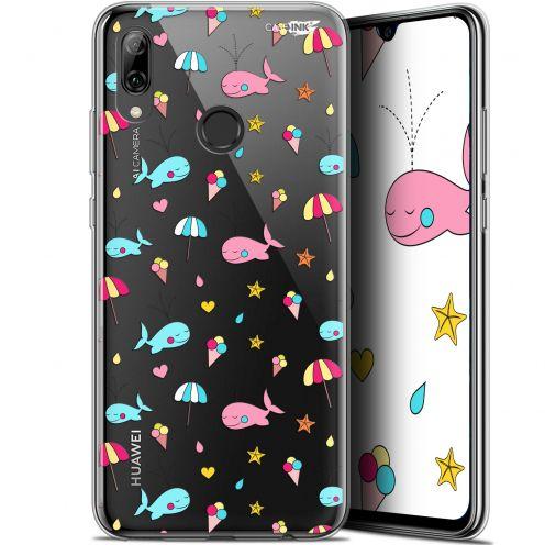 "Coque Crystal Gel Huawei P Smart 2019 (6.21"") Extra Fine Motif - Baleine à la Plage"