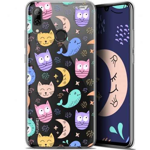 """Coque Crystal Gel Huawei P Smart 2019 (6.21"""") Extra Fine Motif - Chat Hibou"""