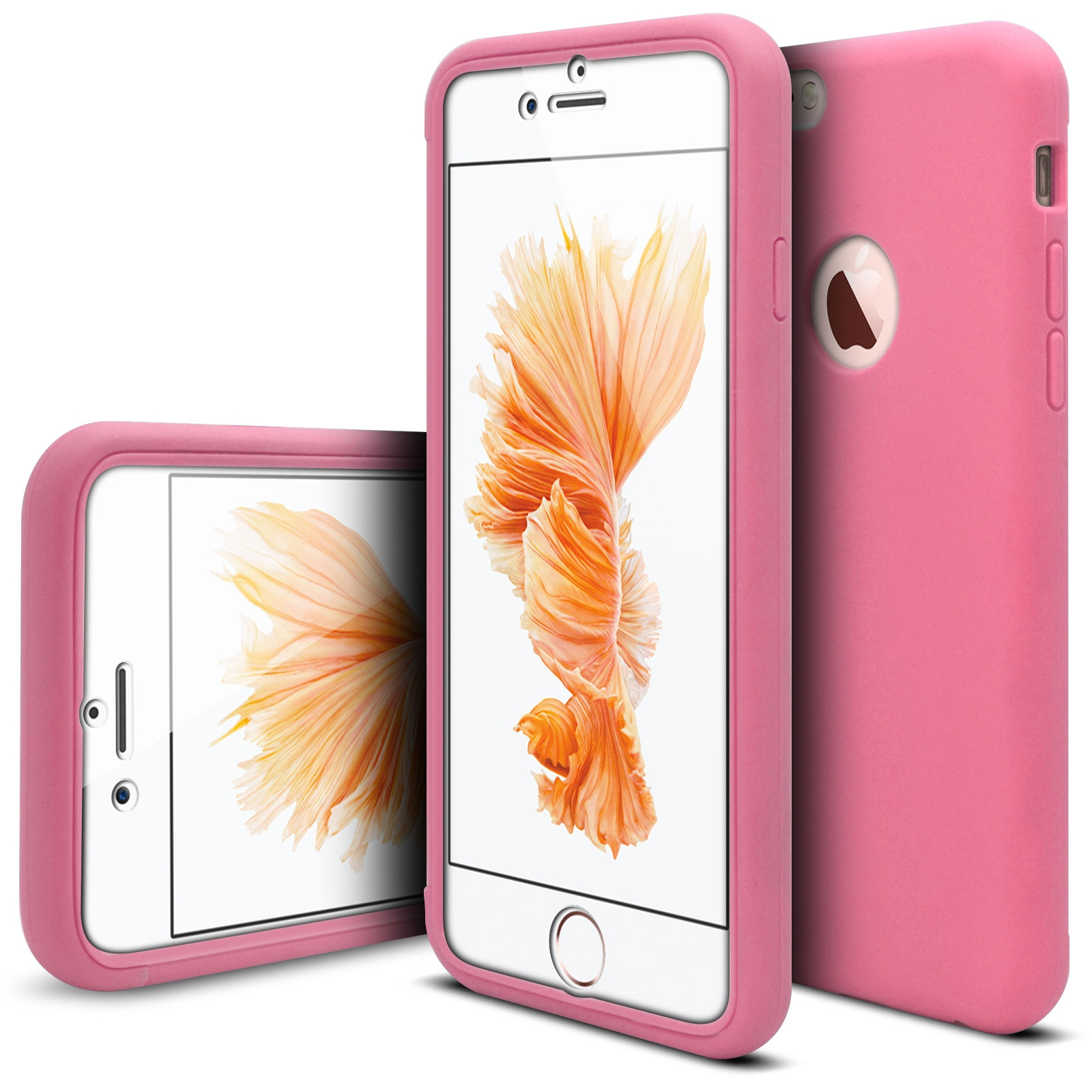 coque antichoc 360 ultimate touch gel apple iphone 6 6s rose. Black Bedroom Furniture Sets. Home Design Ideas