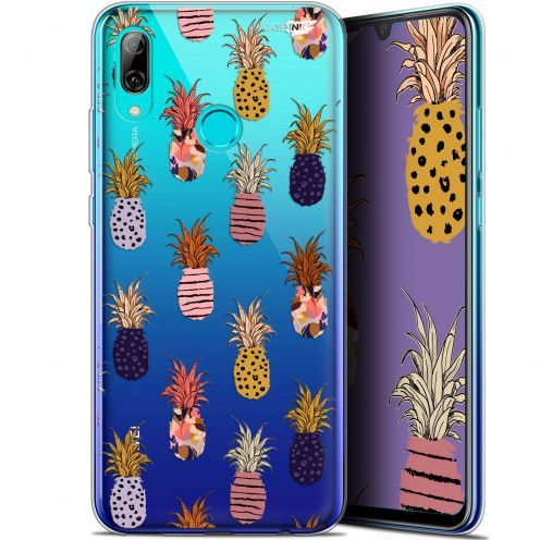 """Coque Crystal Gel Huawei P Smart 2019 (6.21"""") Extra Fine Motif -  Ananas Gold"""