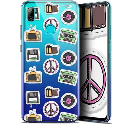 "Coque Crystal Gel Huawei P Smart 2019 (6.21"") Extra Fine Motif -  Vintage Stickers"