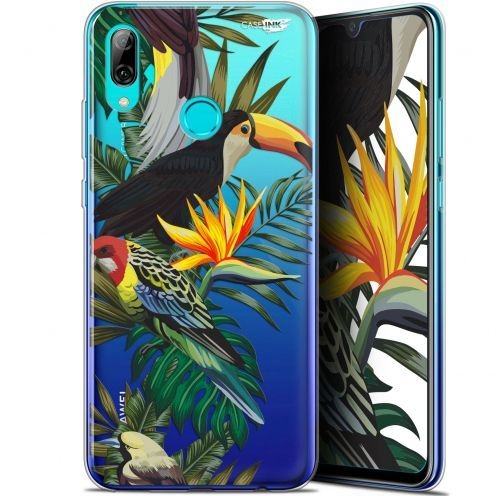 "Coque Crystal Gel Huawei P Smart 2019 (6.21"") Extra Fine Motif - Toucan Tropical"
