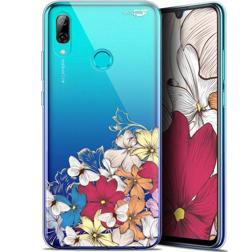 "Coque Crystal Gel Huawei P Smart 2019 (6.21"") Extra Fine Motif - Nuage Floral"