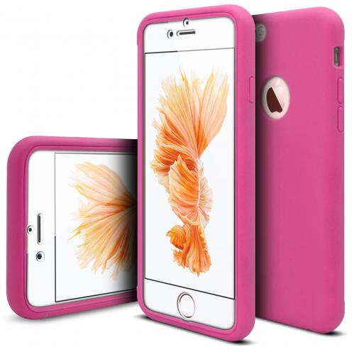 Coque Apple iPhone 6/6s Antichoc 360 Ultimate Touch Gel Fuchsia