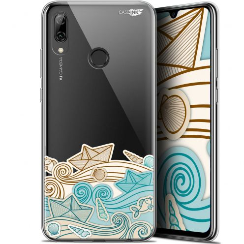 "Coque Crystal Gel Huawei P Smart 2019 (6.21"") Extra Fine Motif - Bateau de Papier"