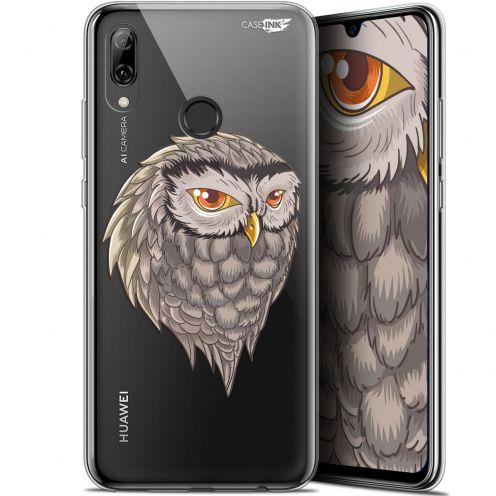"Coque Crystal Gel Huawei P Smart 2019 (6.21"") Extra Fine Motif - Hibou Draw"