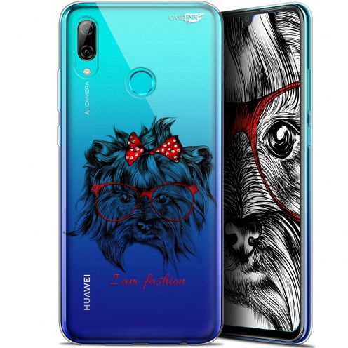 "Coque Crystal Gel Huawei P Smart 2019 (6.21"") Extra Fine Motif -  Fashion Dog"