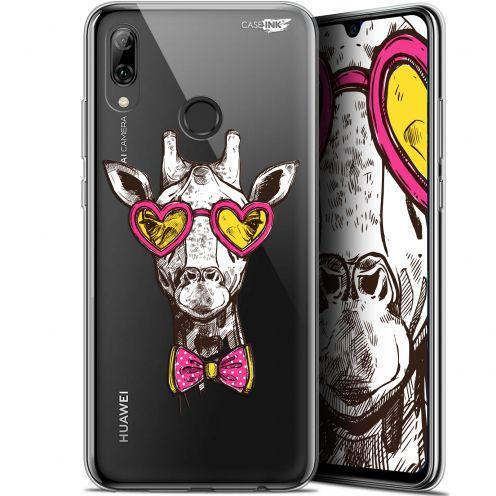 "Coque Crystal Gel Huawei P Smart 2019 (6.21"") Extra Fine Motif - Hipster Giraffe"