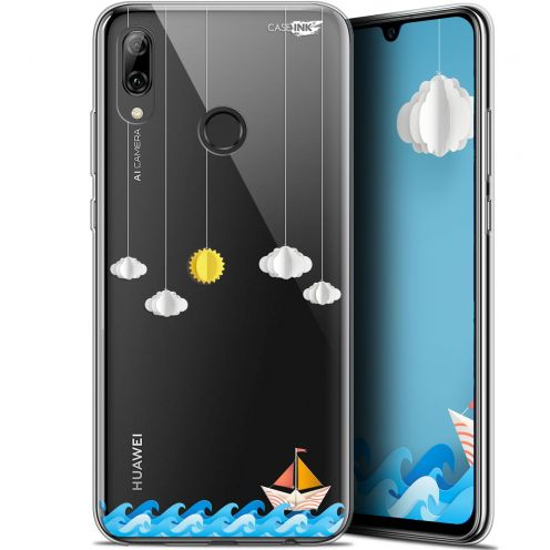 "Coque Crystal Gel Huawei P Smart 2019 (6.21"") Extra Fine Motif - Petit Bateau en Mer"