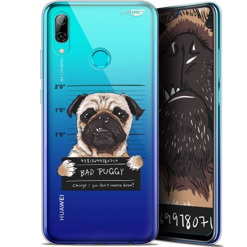 "Coque Crystal Gel Huawei P Smart 2019 (6.21"") Extra Fine Motif - Beware The Puggy Dog"