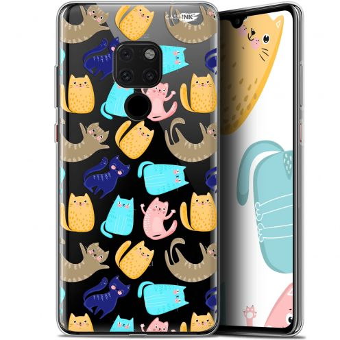 "Coque Crystal Gel Huawei Mate 20 (6.5"") Extra Fine Motif - Chat Danse"