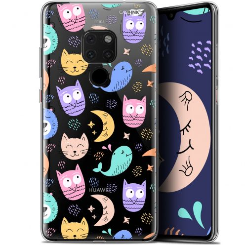 "Coque Crystal Gel Huawei Mate 20 (6.5"") Extra Fine Motif -  Chat Hibou"