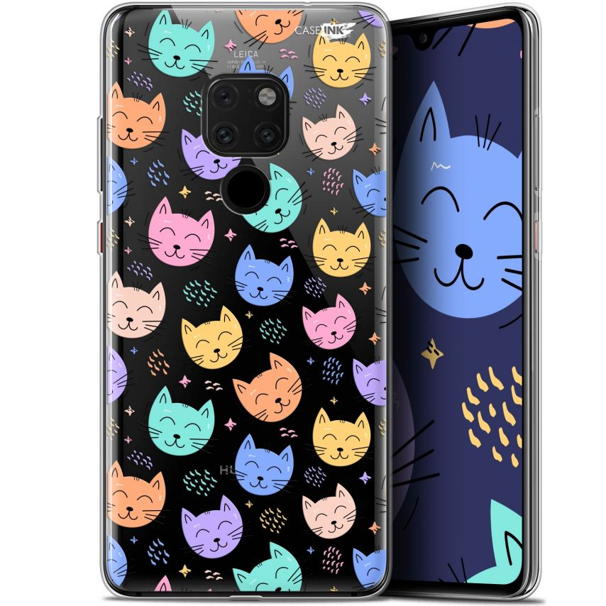 """Coque Crystal Gel Huawei Mate 20 (6.5"""") Extra Fine Motif - Chat Dormant"""