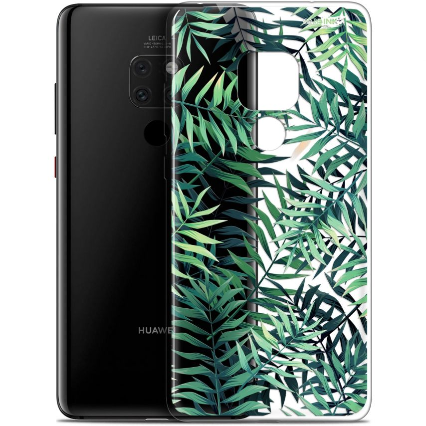 "Coque Crystal Gel Huawei Mate 20 (6.5"") Extra Fine Motif - Feuilles des Tropiques"