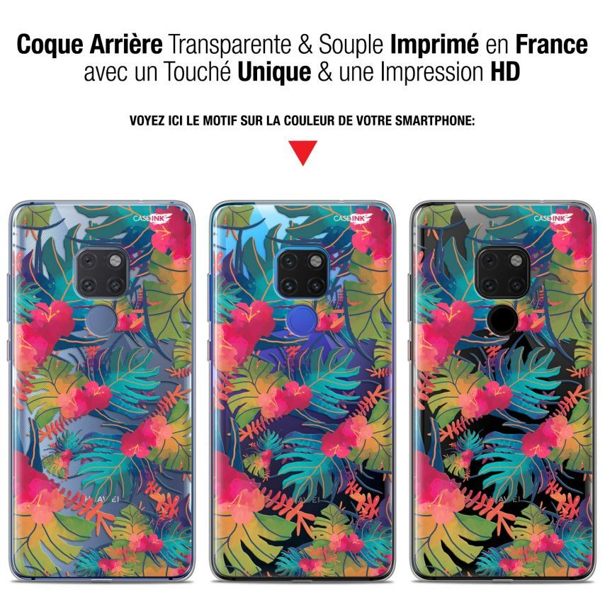 "Coque Crystal Gel Huawei Mate 20 (6.5"") Extra Fine Motif - Couleurs des Tropiques"