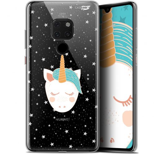 "Coque Crystal Gel Huawei Mate 20 (6.5"") Extra Fine Motif -  Licorne Dors"