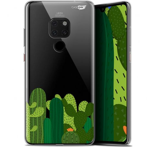 "Coque Crystal Gel Huawei Mate 20 (6.5"") Extra Fine Motif -  Cactus"