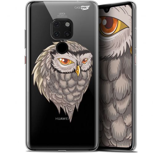 "Coque Crystal Gel Huawei Mate 20 (6.5"") Extra Fine Motif - Hibou Draw"