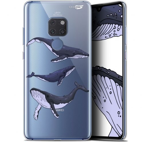 "Coque Crystal Gel Huawei Mate 20 (6.5"") Extra Fine Motif -  Les 3 Baleines"