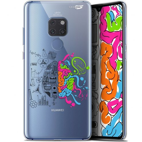 "Coque Crystal Gel Huawei Mate 20 (6.5"") Extra Fine Motif -  Le Cerveau"
