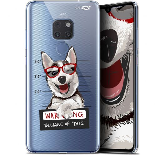 "Coque Crystal Gel Huawei Mate 20 (6.5"") Extra Fine Motif -  Beware The Husky Dog"