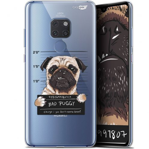 "Coque Crystal Gel Huawei Mate 20 (6.5"") Extra Fine Motif -  Beware The Puggy Dog"