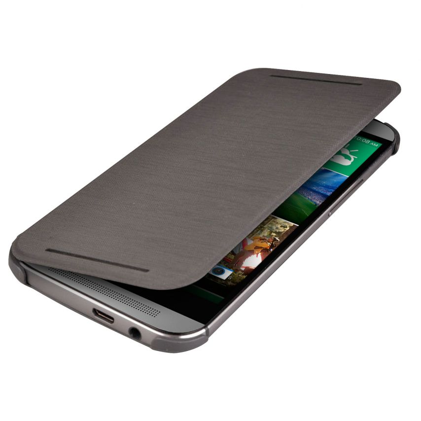 Coque Flip Cover Origine HTC One M8 Noir
