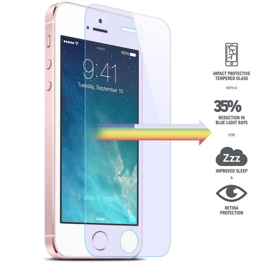 Protection d'écran Verre trempé Apple iPhone 5/5s/SE - 9H Anti Blue Ray HD 0.33mm 2.5D